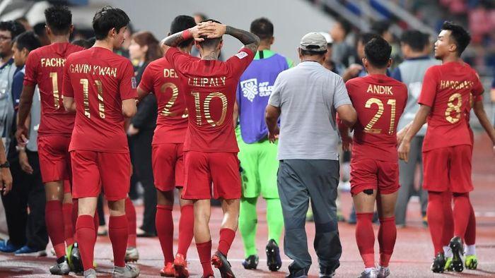 Timnas Indonesia kalah 2-4 dari Thailand di Piala AFF 2018. (Foto: ANTARA FOTO/Akbar Nugroho Gumay/kye)
