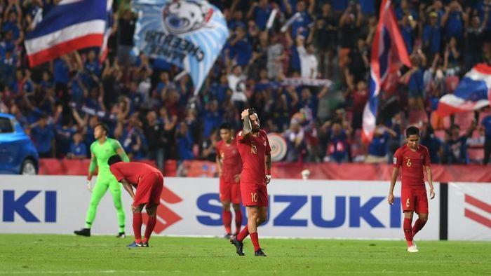 Peluang Indonesia untuk lolos ke semifinal Piala AFF 2018 menipis usai dikalahkan Thailand (Foto: ANTARA FOTO/Akbar Nugroho Gumay/kye)