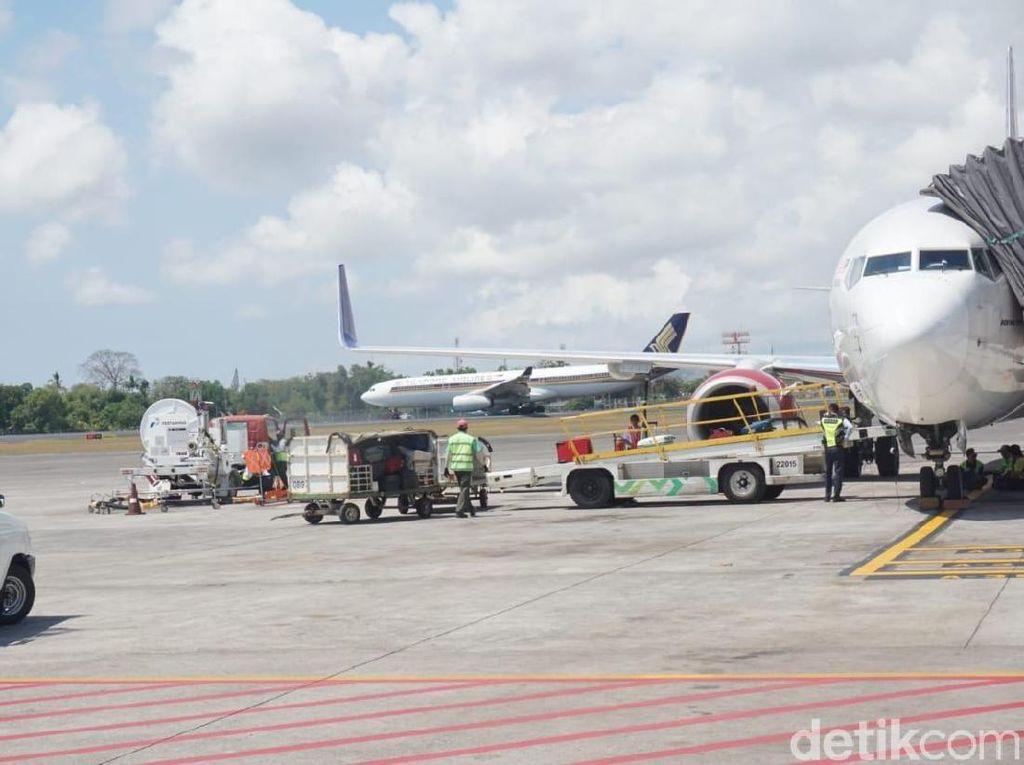 Gunung Agung Erupsi, Penerbangan di Bandara Ngurah Rai Normal