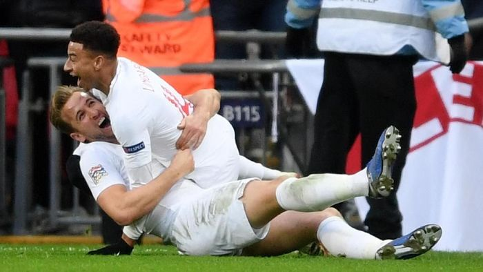 Inggris menang 2-1 atas Kroasia. (Foto: Laurence Griffiths/Getty Images)