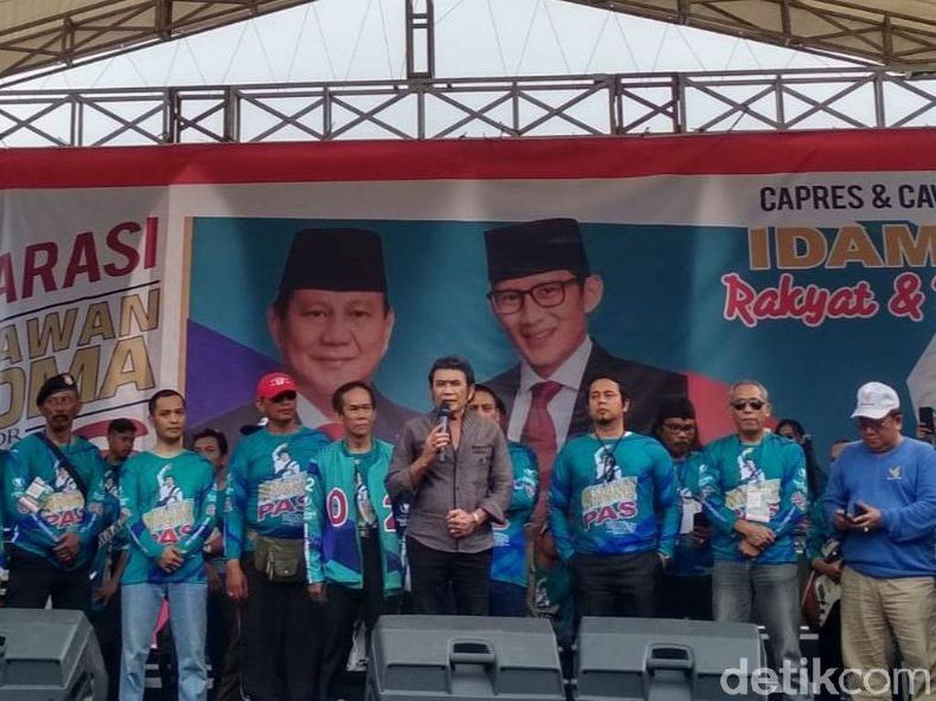 Rhoma Irama Ajak Fans di Semarang Pilih Prabowo-Sandi