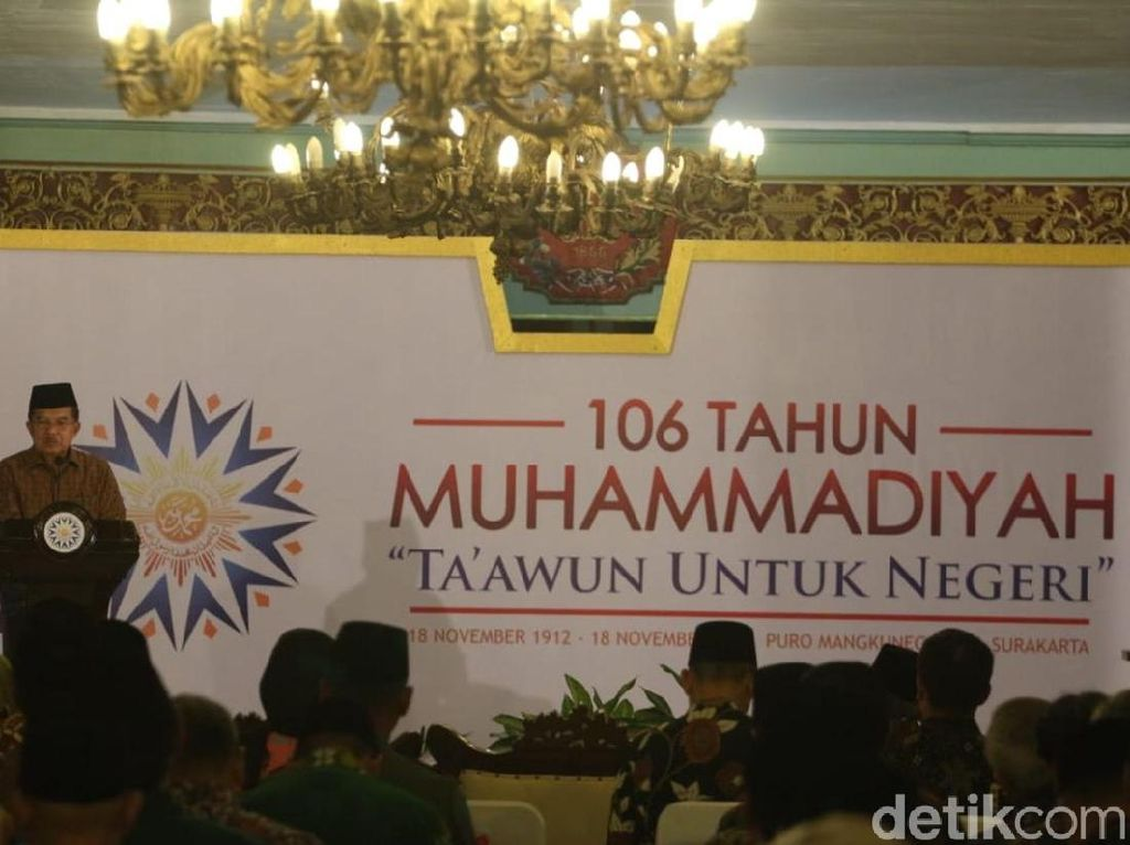 Di Depan Warga Muhammadiyah, JK Ungkap Pemicu Konflik Sosial