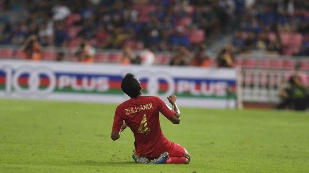 Timnas Indonesia unggul lebih dulu lewat gol Zulfiandi.