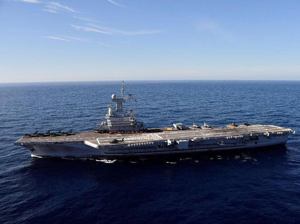 Aksi Kapal Induk Nuklir Prancis Setelah Direnovasi Rp 21 T