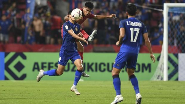 Timnas Thailand berhasil mengalahkan Indonesia 4-2.