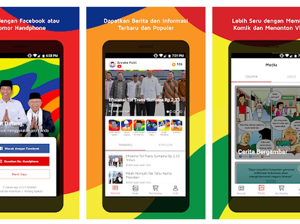 Aplikasi Jokowi Jadi Trending di Play Store