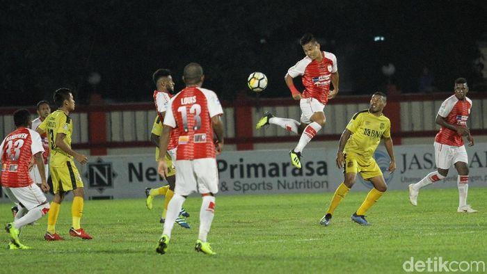 Persipura Jayapura keluhkan lapangan stadion Bhayangkara FC (Rifkianto Nugroho/detikSport)