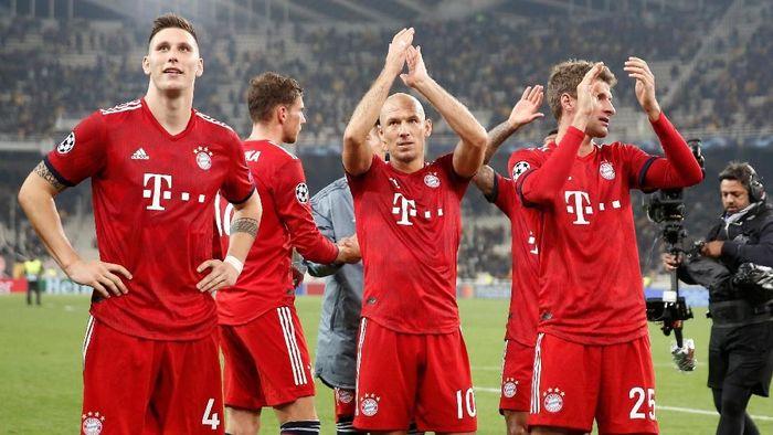 Bayern Munich belum mau membahas soal peluang meraih gelar juara. (Foto: Costas Baltas/ Reuters)