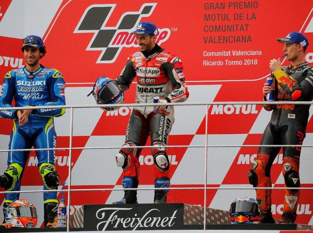 Dovizioso Juara Balapan Ekstrem di MotoGP Valencia