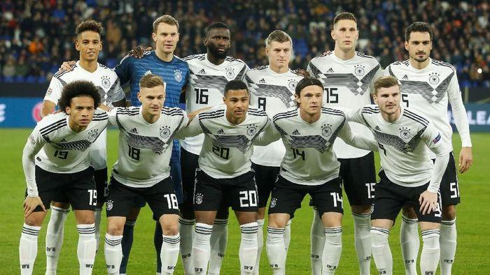 Jerman yang tak punya kans untuk bertahan di Liga A UEFA Nations League melakukan sejumlah perubahan pada line-up kontra Belanda, Selasa (20/11/2018) dini hari WIB (Leon Kuegeler/Reuters)