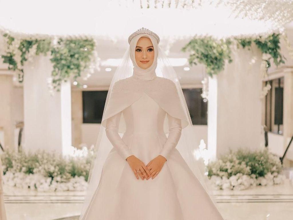 Cantiknya Indah Nada Puspita Saat Menikah, Pakai Gaun Bak Cinderella
