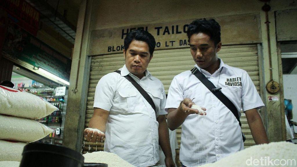 Satgas Pangan dan Bulog Cek Harga Beras di Pasar Tomang Barat