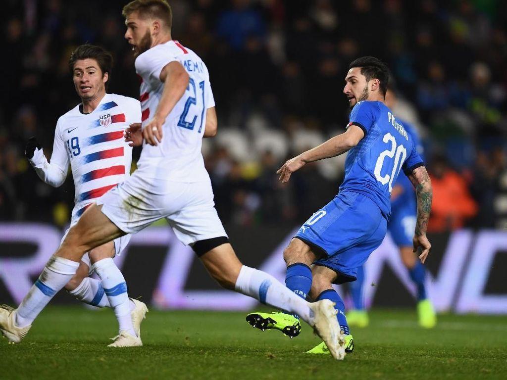 Hasil Laga Uji Coba: Gol di Injury Time Menangkan Italia atas AS