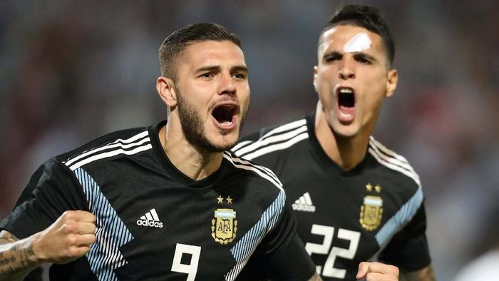Mauro Icardi tak masuk skuat Argentina di Copa America 2019 (Marcelo Ruiz/Reuters)
