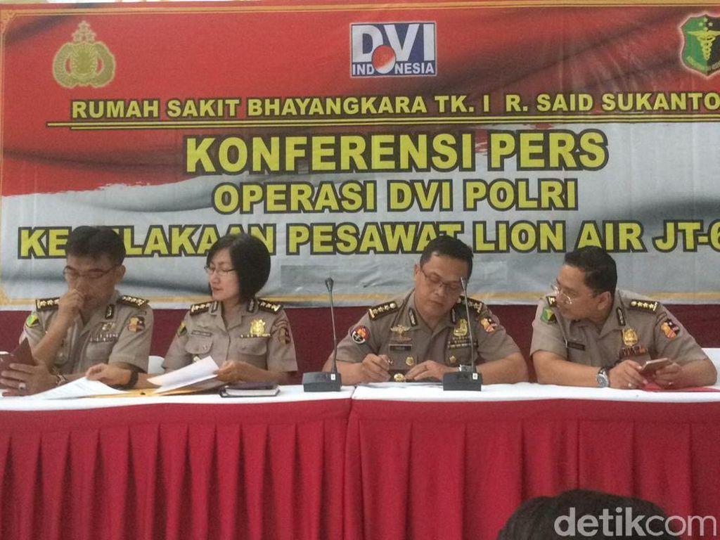 RS Polri Umumkan Hasil Final Identifikasi Korban Lion Air Besok