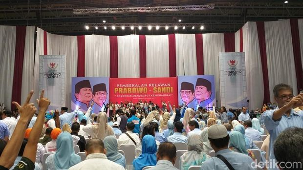 Prabowo-Sandi Kumpulkan Relawan se-Jabodetabek di Istora Senayan
