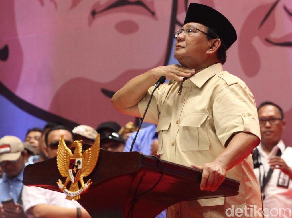 Bicara Kampanye Pahe, Prabowo: Negara Ini Katanya Punya Genderuwo