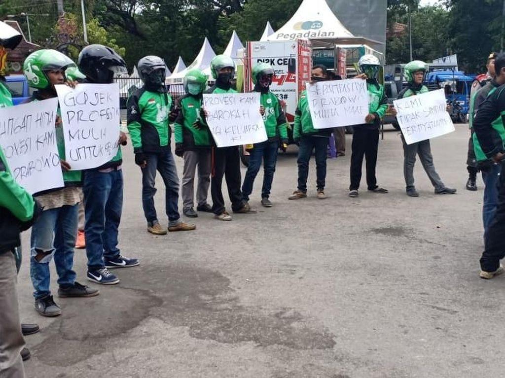 Cukup 30 Menit Ojol di Pamekasan Serukan Protes ke Prabowo