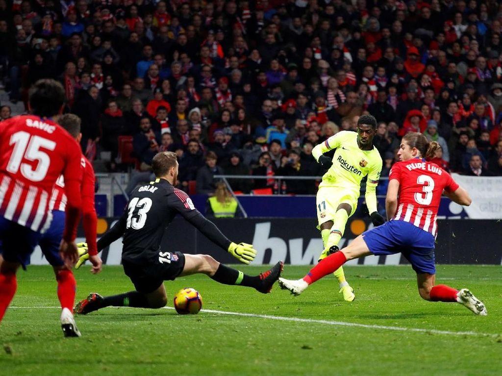Dembele Selamatkan Barcelona dari Kekalahan di Kandang Atletico