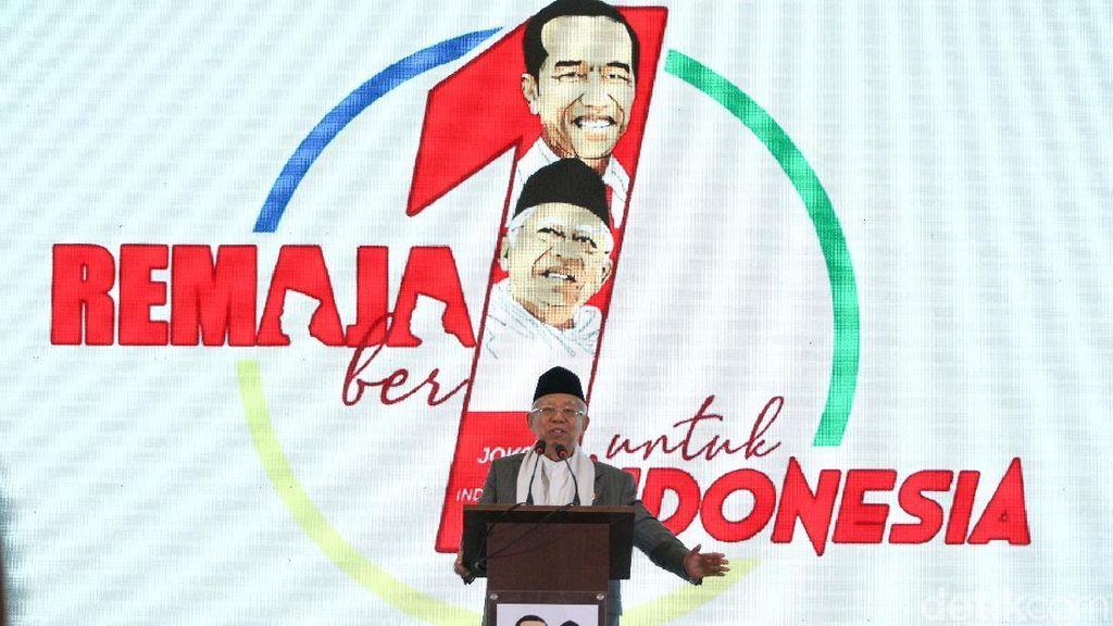Maruf Amin Optimis Jokowi Didukung Generasi Milenial