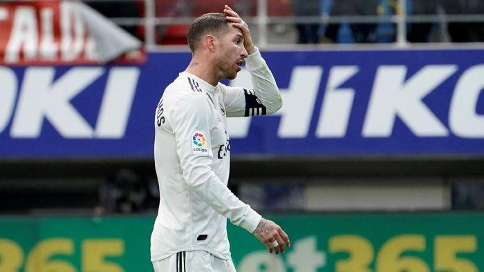 Pemain Real Madrid, Sergio Ramos. (Foto: Vincent West/Reuters)