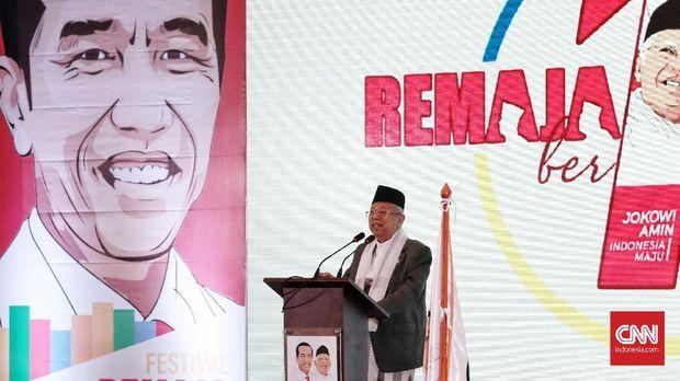 Deklarasi REMAJA (Relawan Milenial Jokowi Maruf Amin) adalah untuk dukungan terhadap capres dan cawapres No.01 di Jiexpo Kemayoran,  Jakarta, Minggu 25 November 2018. REMAJA berisikan anak muda dengan berbagai kemampuan dan ide kreatif, REMAJA mengusung tema Kampanye Ceria. Di dalamnya antara lain terdapat berbagai komunitas, influencer, Youtuber, hingga para calon legislatif muda yang turut mendukung pasangan calon nomor 01. CNN Indonesia/Andry Novelino