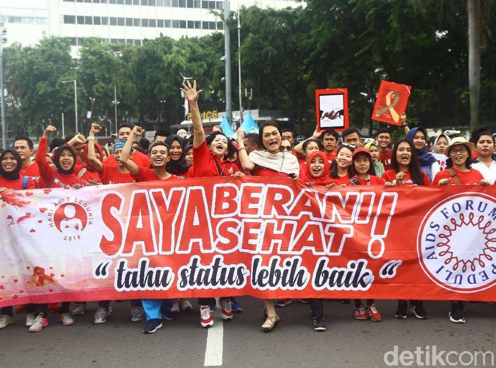 Momen Peringatan Hari AIDS Sedunia di CFD Jakarta