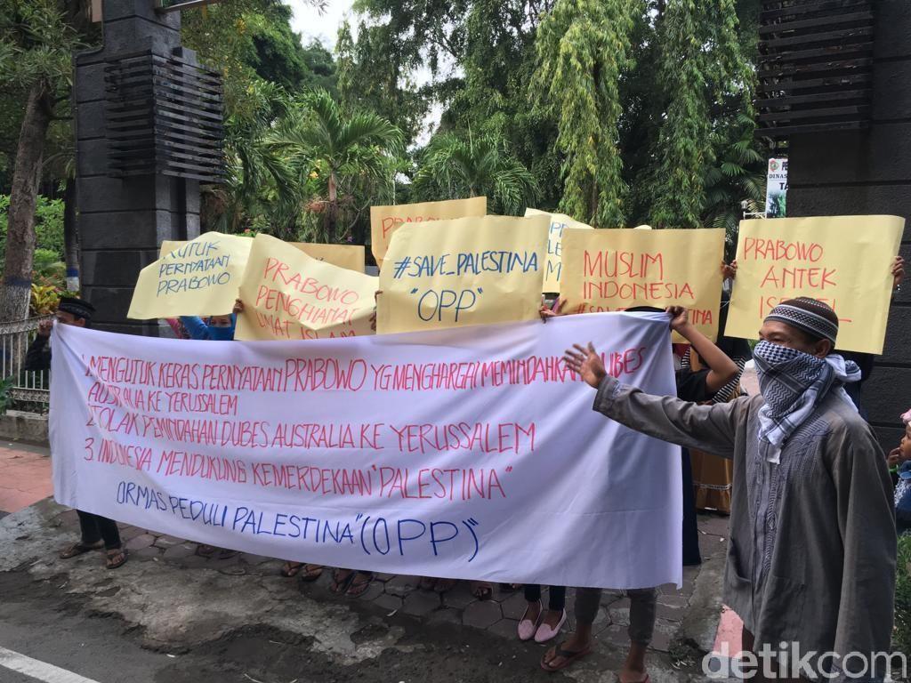Ormas di Mojokerto Protes Prabowo soal Kedubes Australia di Israel