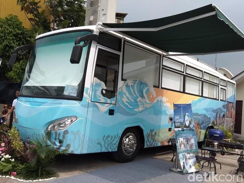 Damri Sulap Bus Lama Jadi Hotel