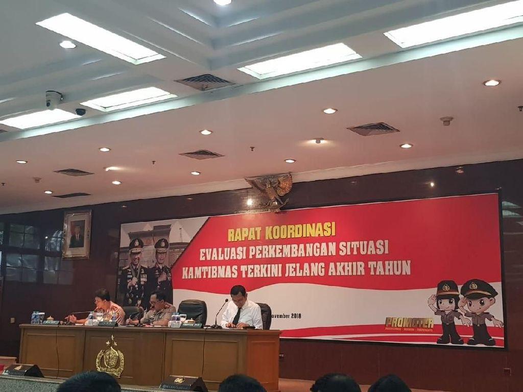 Kapolri Rapat Bareng Seluruh Kapolda, Bahas Pengamanan Akhir Tahun