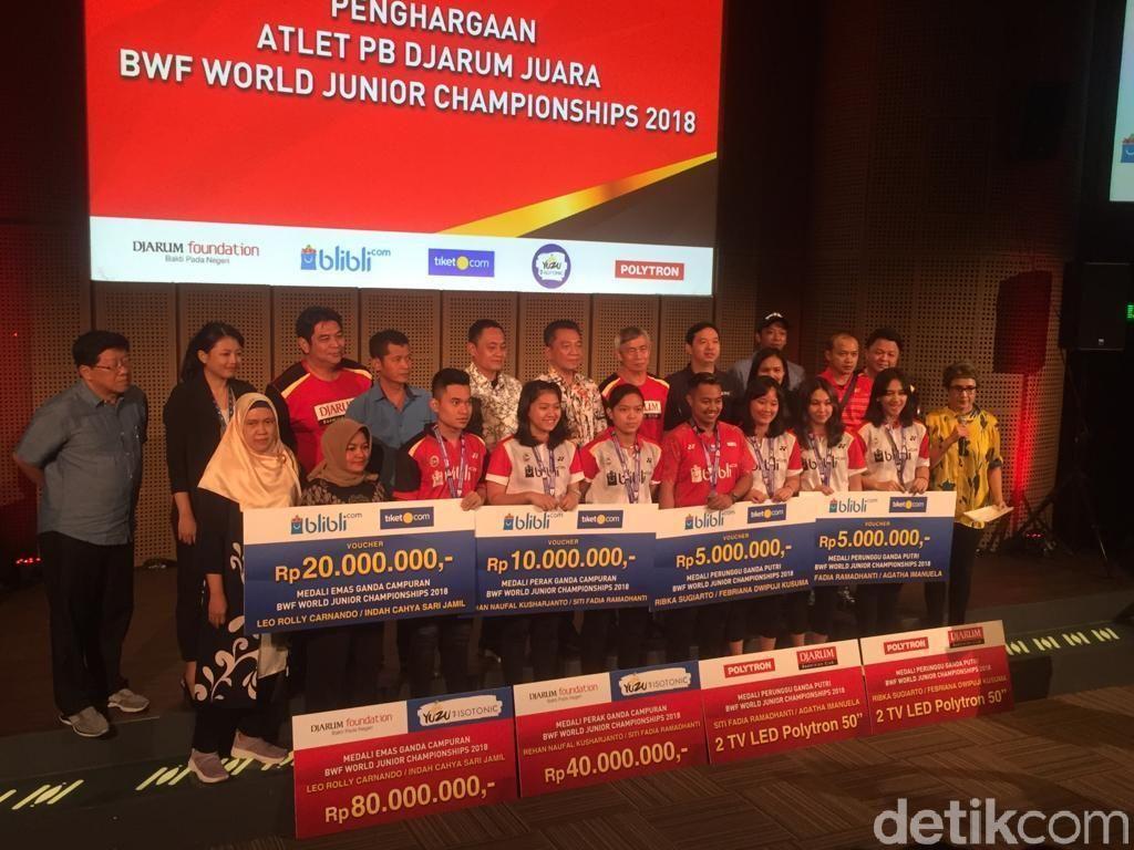 PB Jarum Kucuri Bonus kepada Juara Dunia Junior