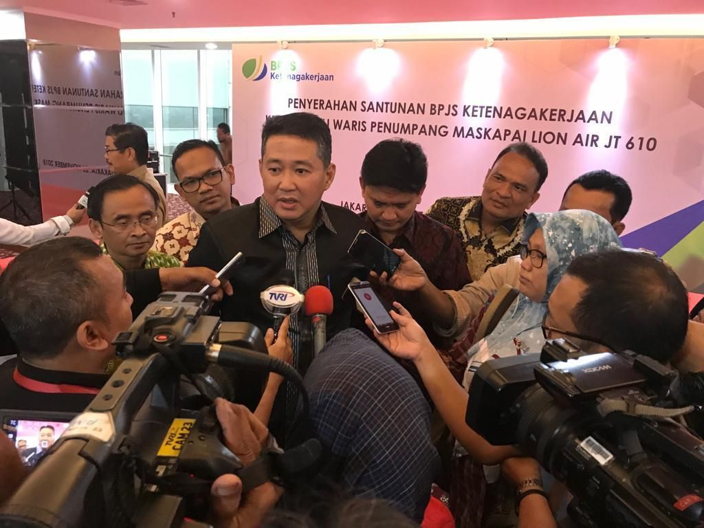 BPJS TK Pastikan Hak Jaminan Sosial Ahli Waris Korban Lion Air JT 610