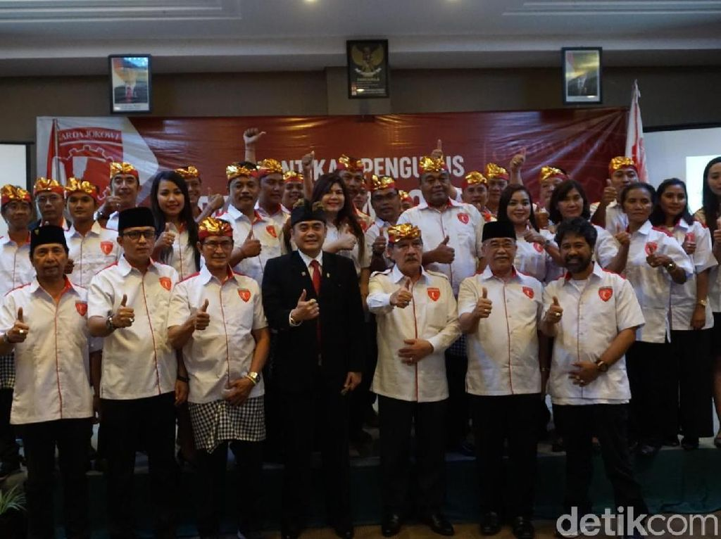Semangati Relawan Jokowi di Bali, Antasari Singgung Kasus Nuril