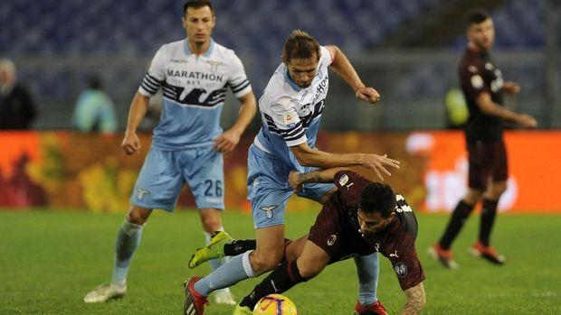 Lazio vs Milan Imbang 1-1, Gol Injury Time Buyarkan Keunggulan Rossoneri