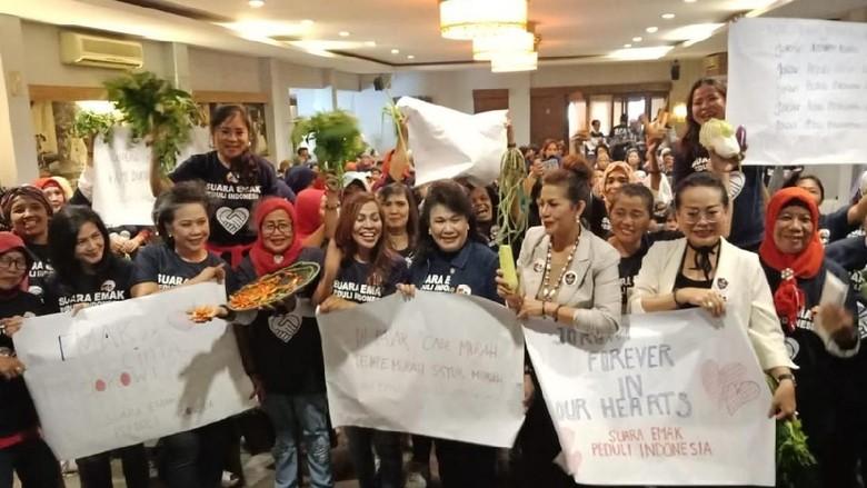 Dukung Jokowi, Kelompok Emak-emak Ini Kampanyekan Harga Sayur Murah