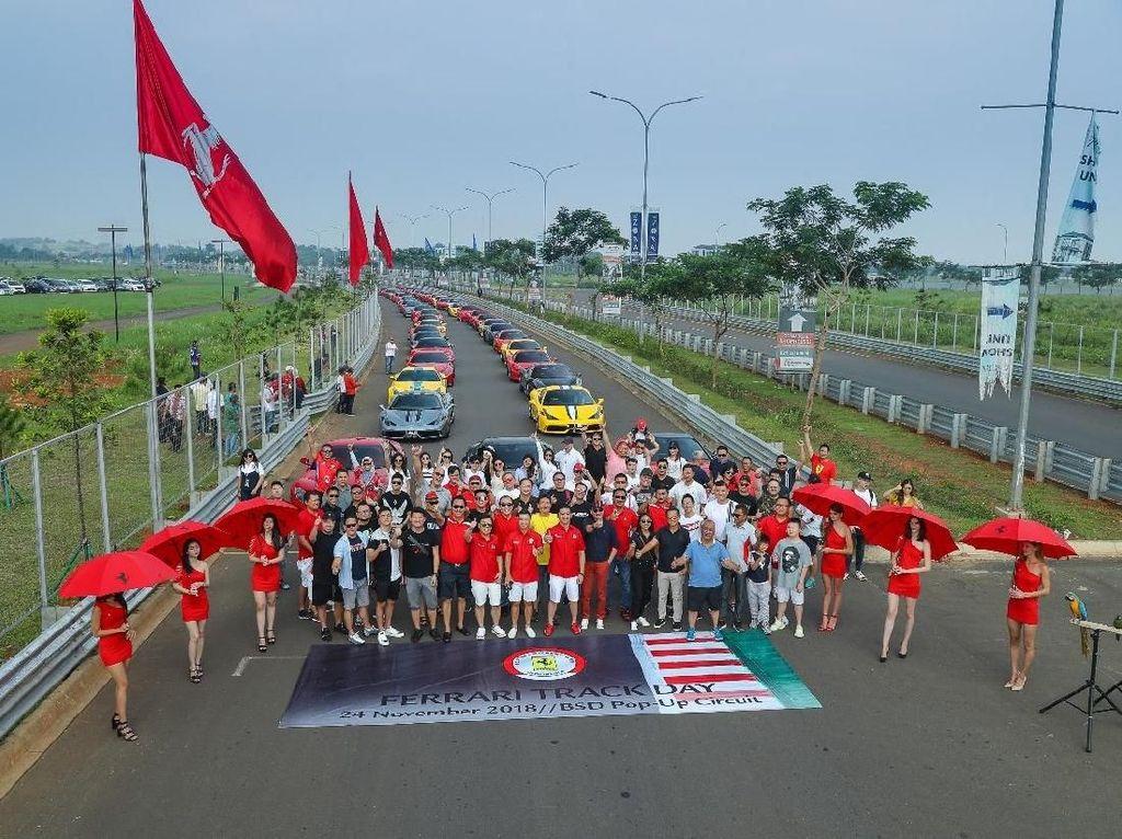 Saat Ferrari Bikin Sesak BSD Tangerang