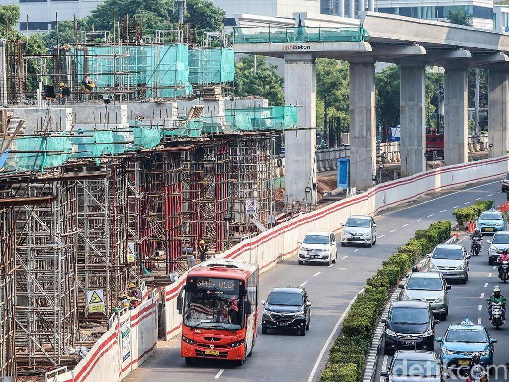 Penampakan Terkini LRT Jabodebek di Rasuna Said
