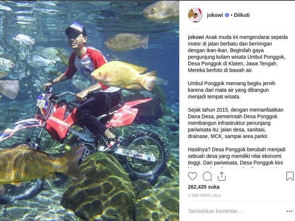 Jokowi: Wisata Umbul Ponggok Hasilkan Rp 14 M Setahun