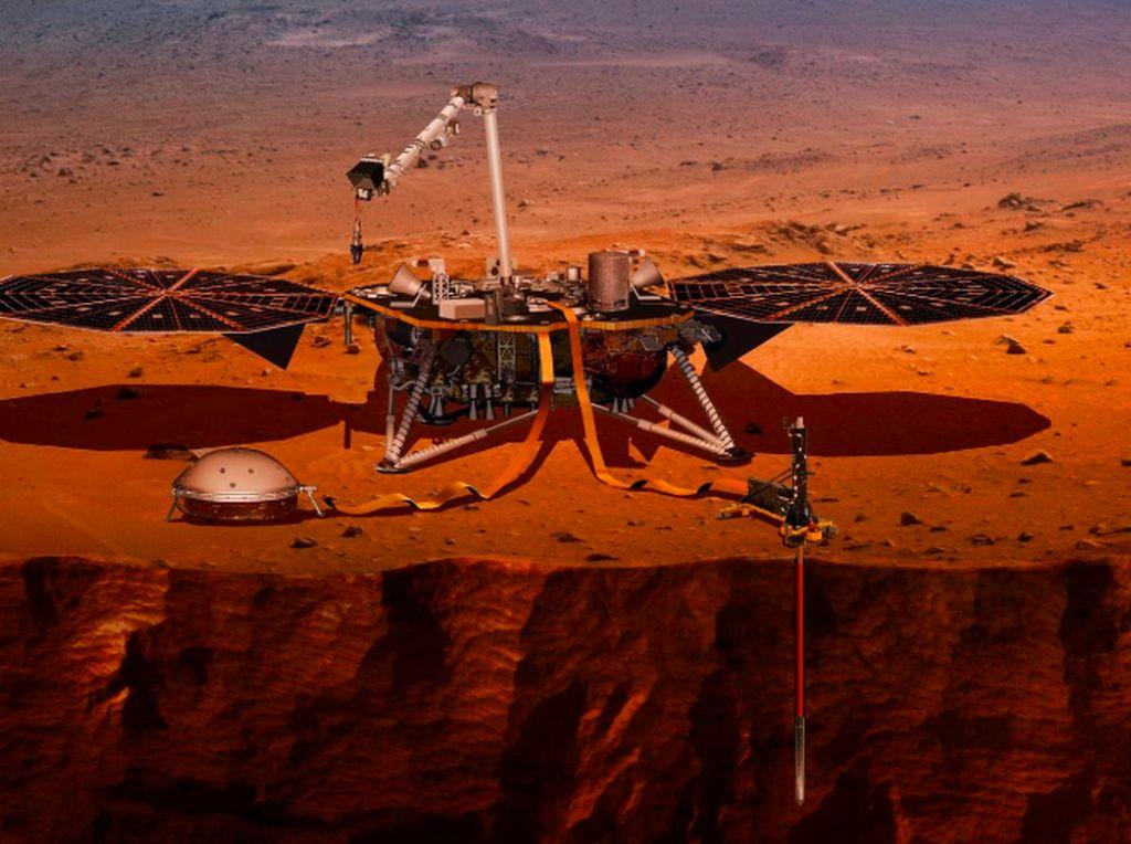 Hebat! Robot InSight Sukses Mendarat di Planet Mars