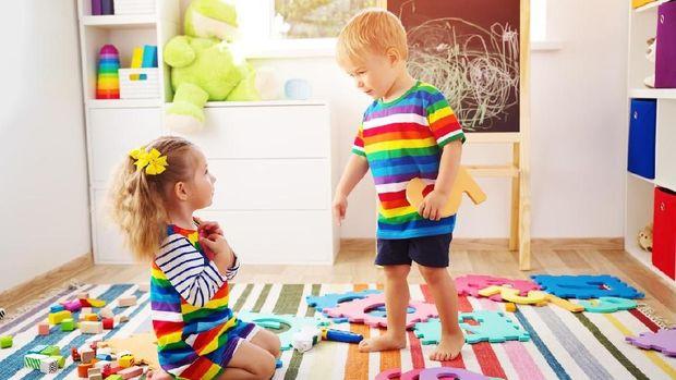 Ilustrasi kamar anak berantakan