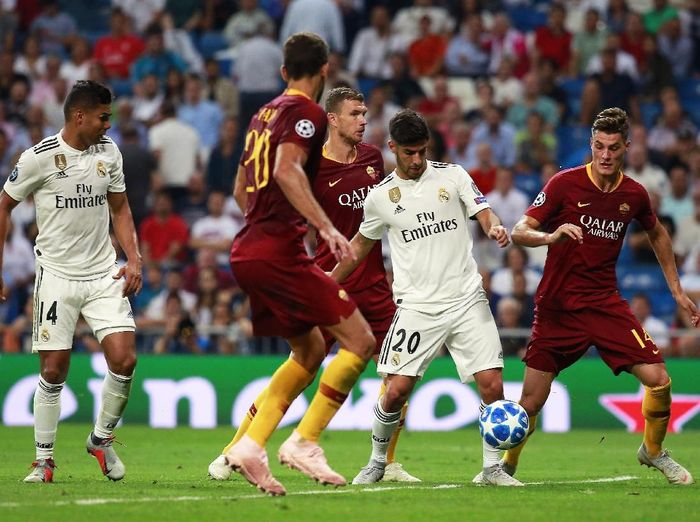 Real Madrid saat melawan AS Roma di Liga Champions. (Foto: Gonzalo Arroyo Moreno/Getty Images)