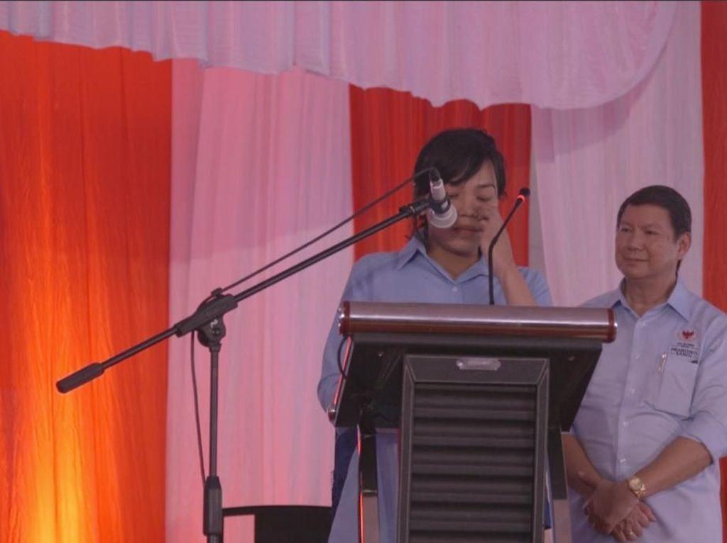 Sambil Menangis, Cucu Jenderal Soedirman Ini Deklarasi Dukung Prabowo