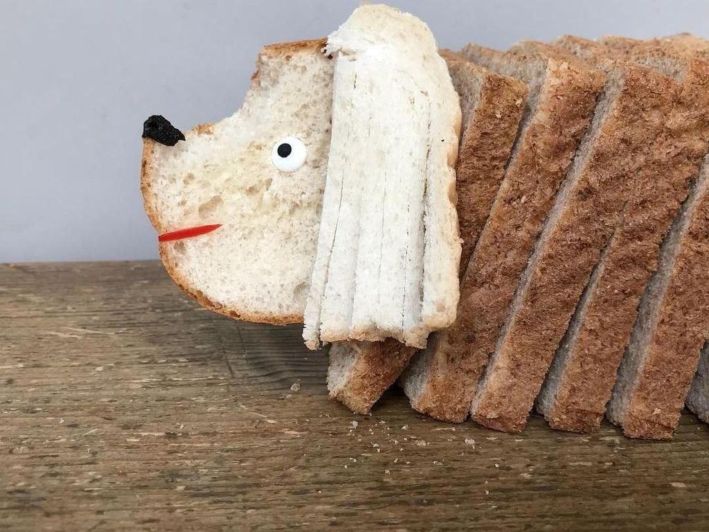 Kreatif! Potongan Roti Ini Dibentuk Menyerupai Anjing Hingga Kelinci