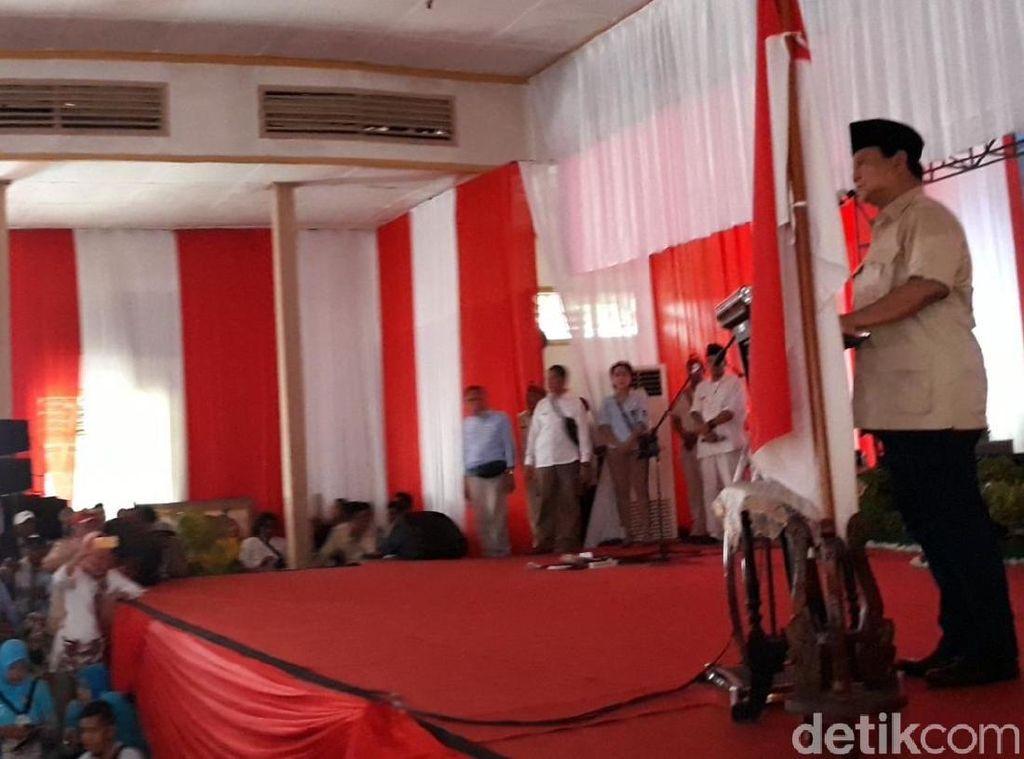 Prabowo: Uang Utangan Malah Digunakan untuk Impor, Impor, Impor
