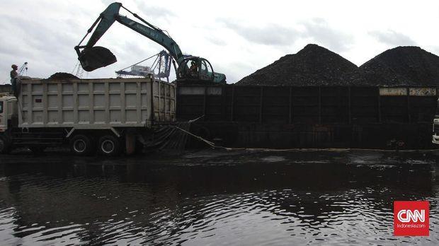 Aktivitas bongkar muat batubara di Pelabuhan KCN Cilincing, Jakarta, Rabu, 28 November 2018. Direktur Jenderal Mineral dan Batubara Kementerian Energi dan Sumber Daya Mineral (ESDM) Bambang Gatot Ariyono mengatakan Penerimaan Negara Bukan Pajak atau PNBP subsektor mineral dan batu bara (minerba) per 16 November 2018 mencapai Rp 41,77 triliun. Jumlah tersebut melebihi target yang ditetapkan yaitu sebesar Rp 32,1 triliun. CNN Indonesia/Adhi Wicaksono