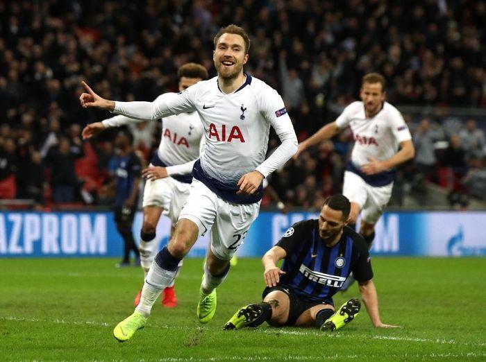 Gol tunggal Christian Eriksen menangkan Tottenham Hotspur atas Inter Milan di matchday kelima Liga Champions. (Foto: Julian Finney/Getty Images)