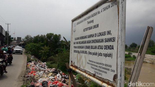 Papan larangan buang sampah
