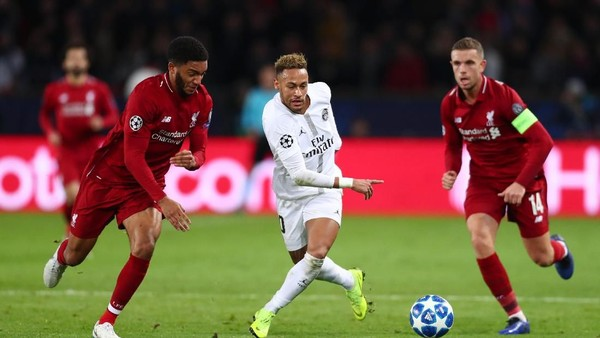 Hasil PSG vs Liverpool: Gol Bernat dan Neymar Menangkan Les Parisiens