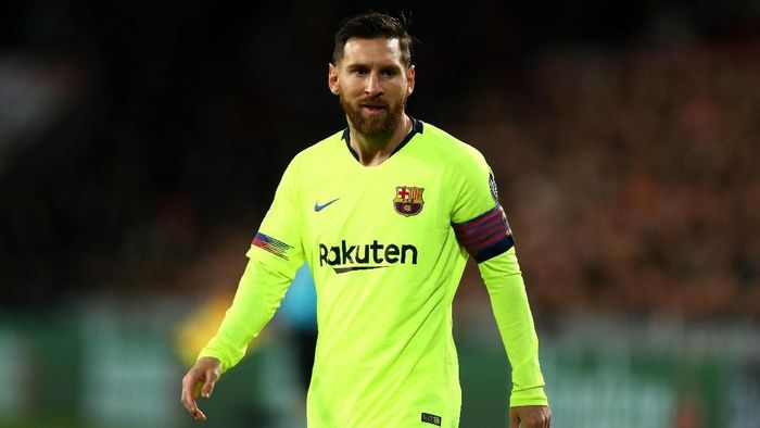 Lionel Messi di salah satu laga Barcelona. (Foto: Dean Mouhtaropoulos/Getty Images)