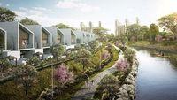 Hunian Podomoro River View, Hanya Jalan Kaki ke Stasiun LRT & Sekolah